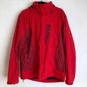Mammut Kian Jacket Red Dry Tech Hood Inferno
